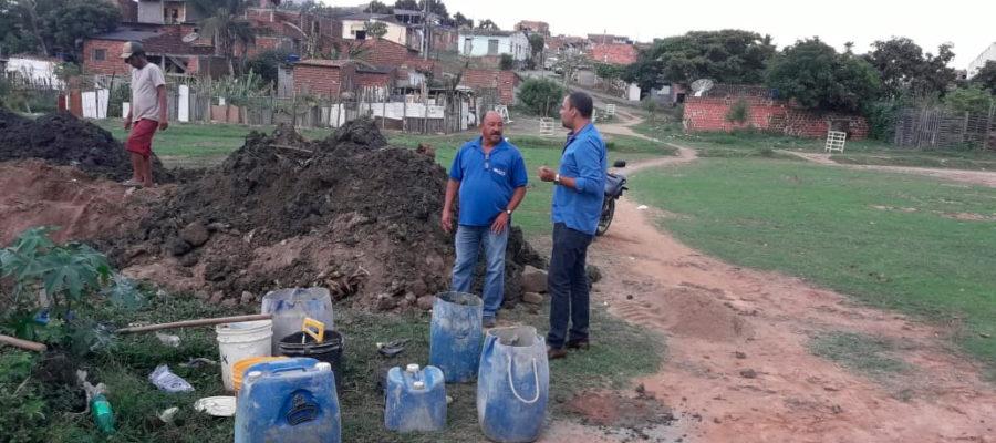 Diretor do SAAE acompanha obras nos bairros da cidade